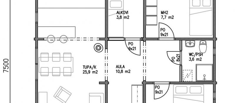hirsimkki-loma-asunto-pielinen-pohjakuva